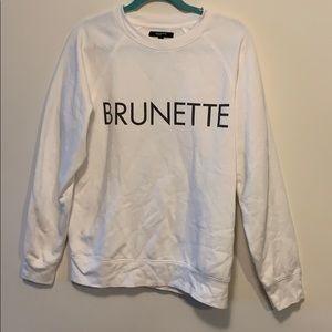Brunette the label sz m/L brunette pullover
